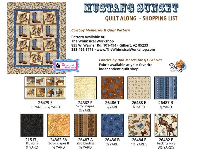 MustangSunset_FabricRequirement