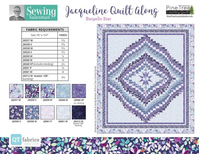Jacqueline Quilt Along Sewing Salesman