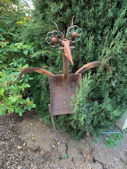 Big Rusty in the Garden